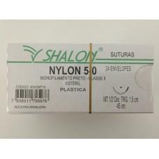 Fio de Sutura Shalon Nylon 5-0